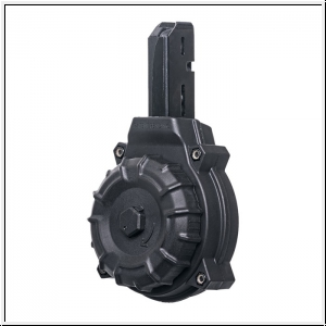 AR-15 Colt/SMG Type 50Rd Drum Magazine Polymer Black